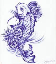 Koi Fish And Lotus Flower 30 Koi Fish Designs With Meanings