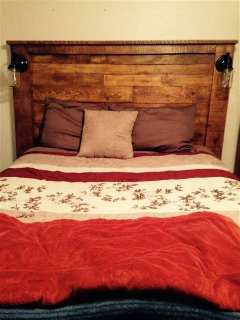 light headboard diy diy pallet headboard with lights 101 pallets
