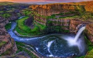 Flowers In Idaho Falls - landscape nature waterfall river canyon palouse falls