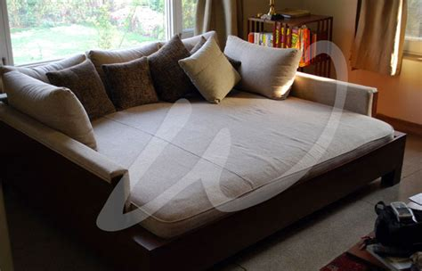 huge couch bed white