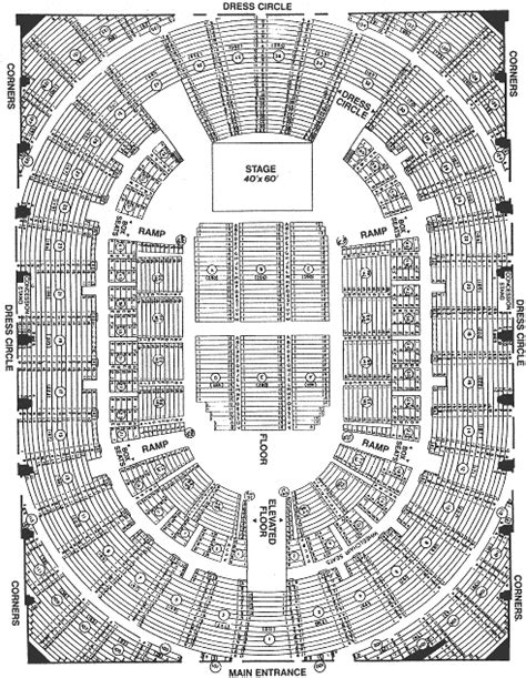 bell centre detailed seating chart u s tour 1973