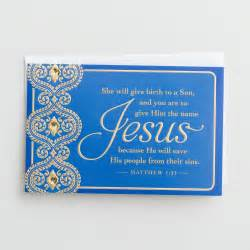 jesus he will save 18 premium christmas boxed cards