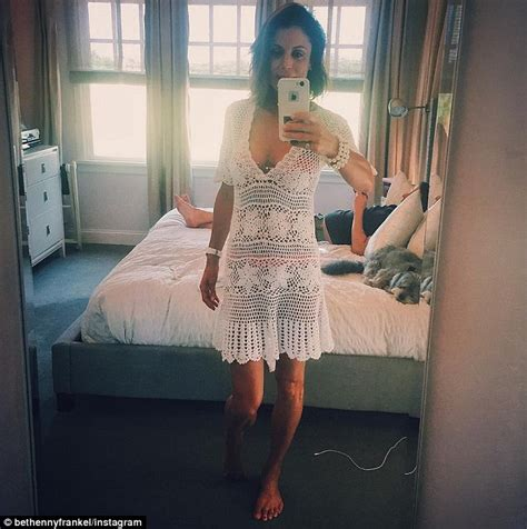 Bethenny Frankel Shares Bedroom Snap With A Mystery Man Lying Behind Her Daily Mail
