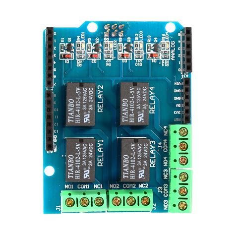 Relay 4 Channel 5v four channel relay shield 5v 4 channel 4ch relay shield module for arduino te315 ebay