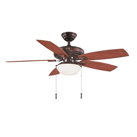 52 Outdoor Ceiling Fan With Light Hton Bay Glacier Bay 52 In Indoor Outdoor Rustic Copper Ceiling Fan With Light Kit 14938