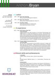 Best Font Size For Resume 2016 by Resume Format 19r02 Best Resume Formats 2016 18 Only