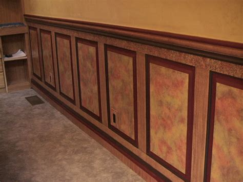 Faux Raised Panel Wainscoting faux painted wainscoting panels in fairbanks alaska