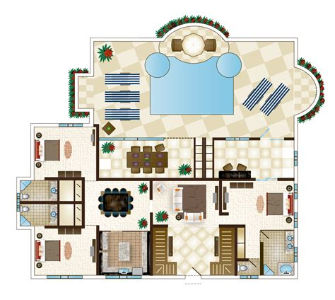 6 bedroom villa 6 bedroom floor plan