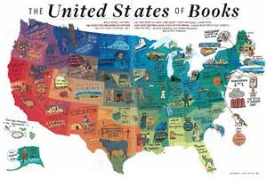 map book of the us the united states of books national writers