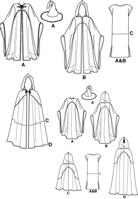 sewing pattern simplicity 9887 gandalf halloween costume