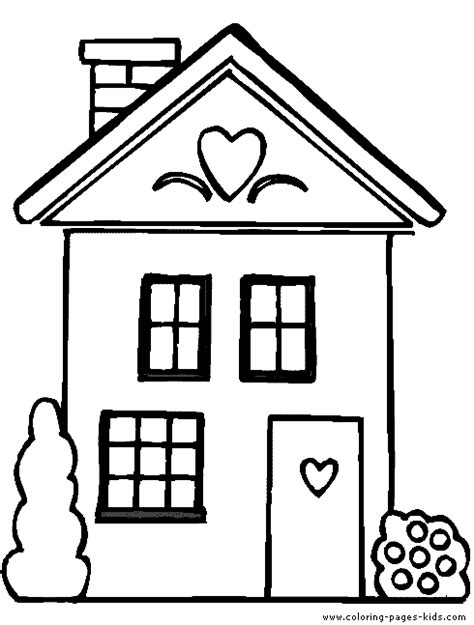 a coloring page of a house house coloring pages only coloring pages nursery room