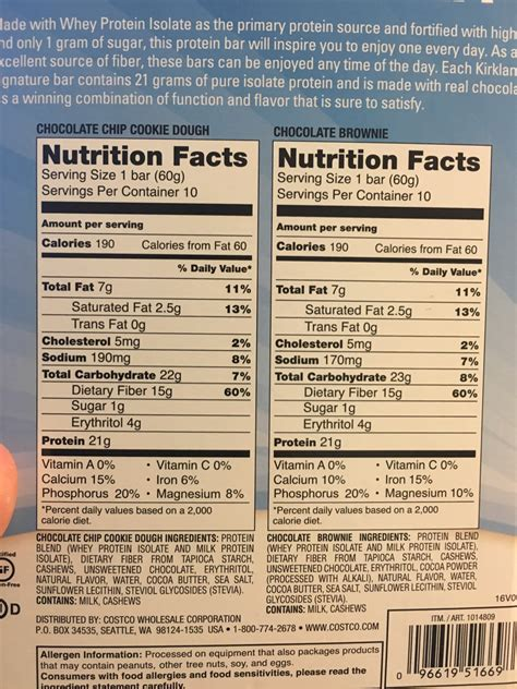 1 protein bar kirkland protein bars review