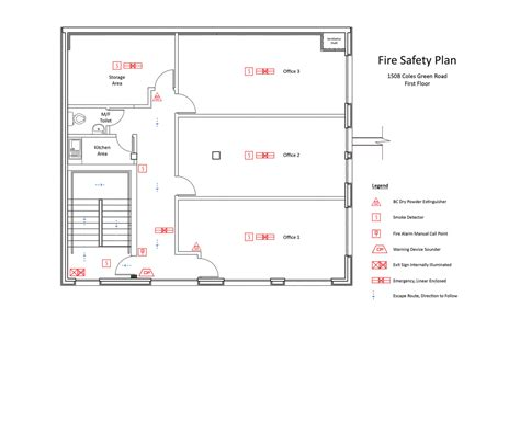 fire evacuation floor plan obd fire safety plans