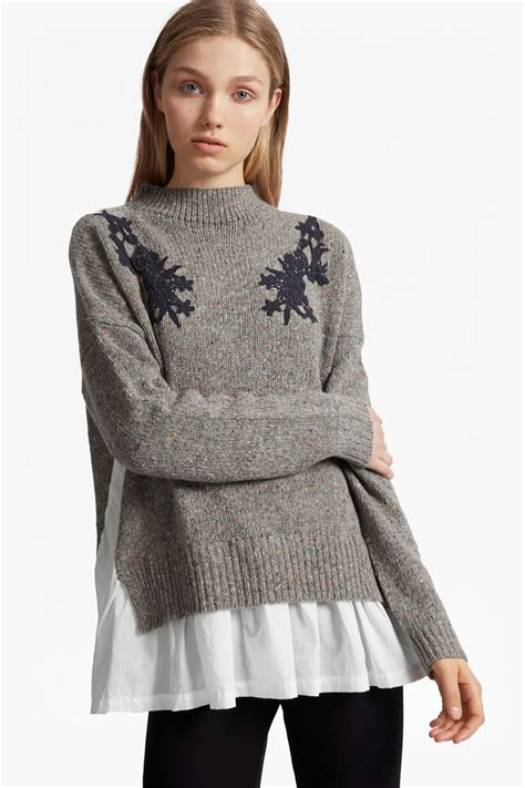lace knit jumper nep knit lace jumper jumpers cardigans