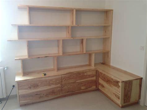 fabrication d un bureau en bois sur mesure agencement