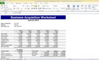 Microsoft Excel Business Templates Free Business Acquisition Template For Excel Powerpoint