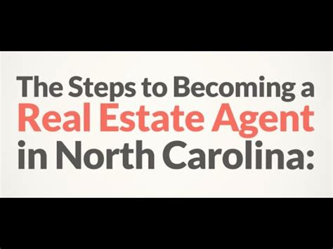 become a realtor how to become a real estate agent in north carolina youtube