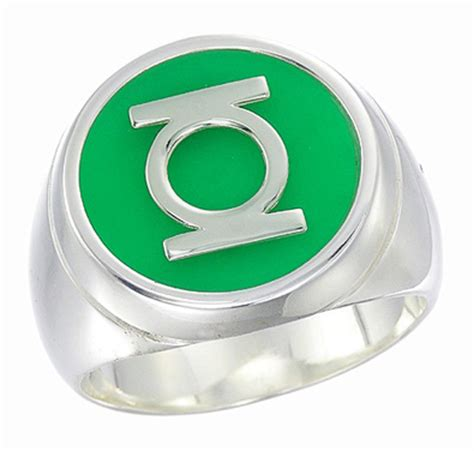 green lantern the silver green lantern inspired silver ring new style jewelry
