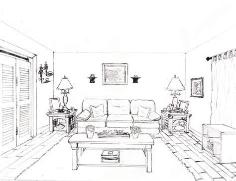 how to draw a living room how to draw a 1 point perspective bedroom image gallery