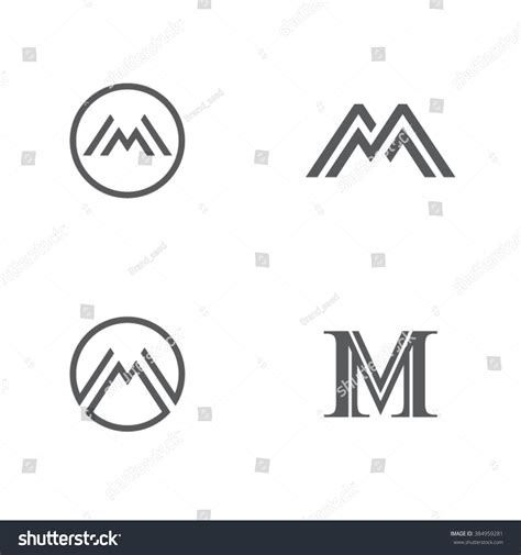 Memo Template Vector M Letter Symbol M Letter Icon Stock Vector 384959281