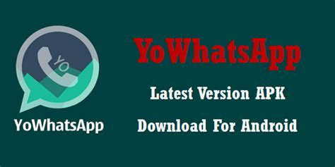 whats apk yowhatsapp version apk for android