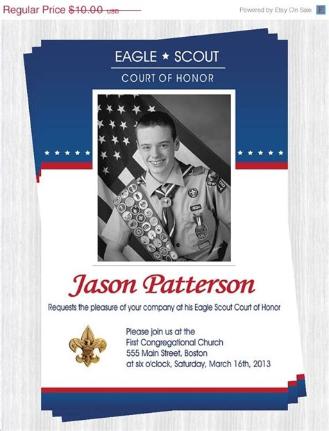 10 Images About Scouts Eagle Scout Invitations On Pinterest Printable Thank You Cards Eagle Scout Announcement Templates