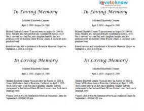 funeral biography template free obituary exles funeral home