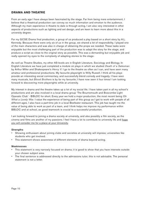 Board Of Studies Drama Essay by Writing A Winning Drama Personal Statement