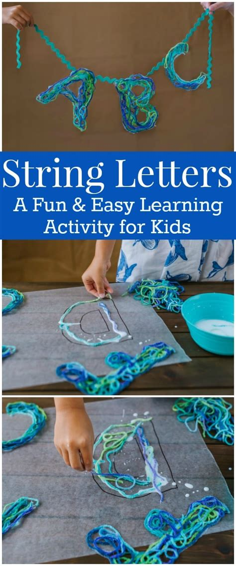 How To Make String Letters - string letters an alphabet craft with ideas for