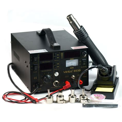 Hm 8 Iron 3in1 yihua 853d smd smt rework station air gun soldering iron dc power supply 3in1 jpg