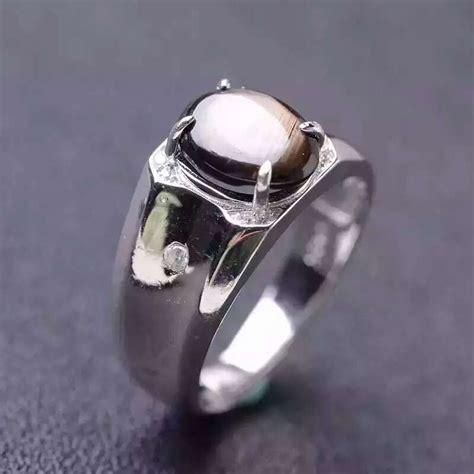 natural gemstone rings sterling silver natural star sapphire stone ring 925 sterling silver