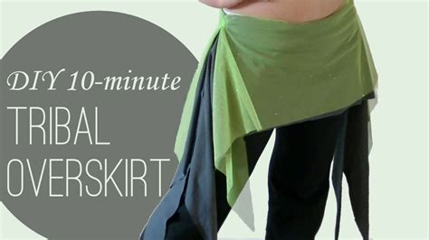 Tribal Overskirt Pattern | diy tribal overskirt hip skirt in 10 minutes or less