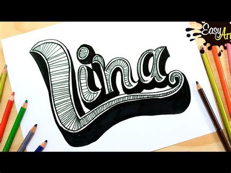 doodle name lina dibujos dibujar nombres lina draw names lina