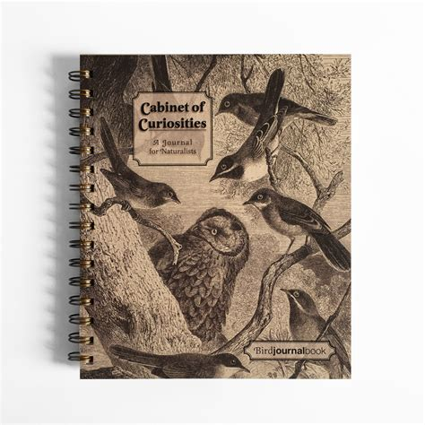 of curiosities book bird journal hardcover spiral bound notebook