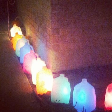 christmas lights milk jugs christmas pinterest