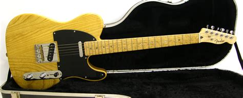 lot 36 fender lite ash telecaster electric guitar