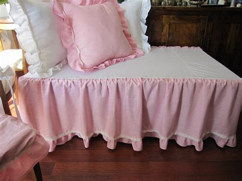 Pink Crib Bed Skirt Tiered Dust Ruffle Baby Girl Boy Bed Skirts For Baby Cribs