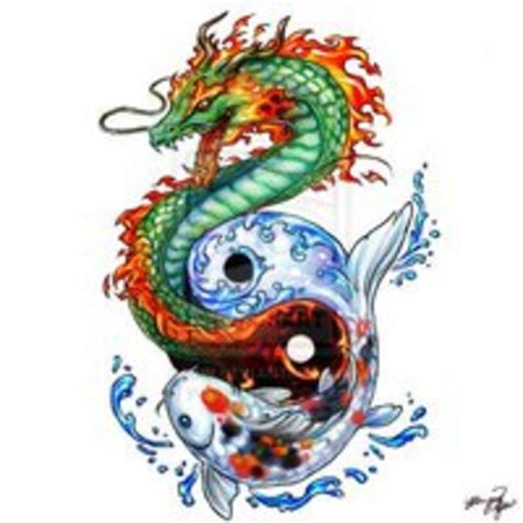 tattoo dragon koi fish dragon and koi fish tattoo tattoo pictures at