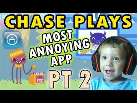 chase plays most annoying app ever (2 year old face cam