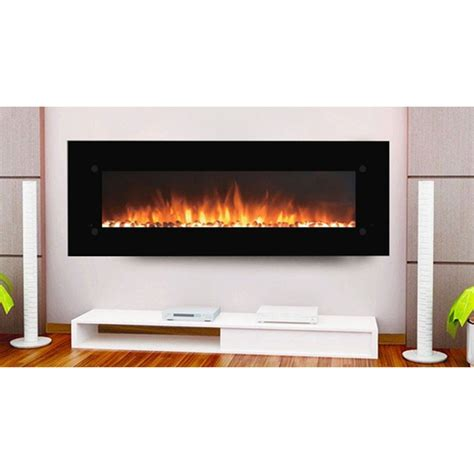 Contemporary Electric Fireplace Touchstone 80005 Onyxxl 72 Inch Contemporary Electric Wall Mounted Fireplace