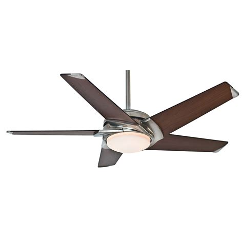 casablanca stealth ceiling fan shop casablanca stealth led 54 in brushed nickel led