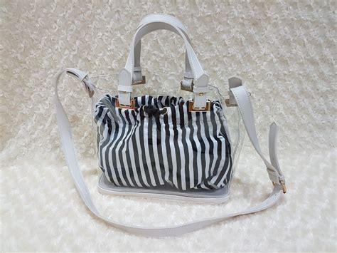 Handbag White Import Korea bag transparent import model korean b23 white terabit
