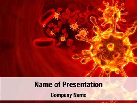 virus powerpoint template virus and blood cell powerpoint templates virus and