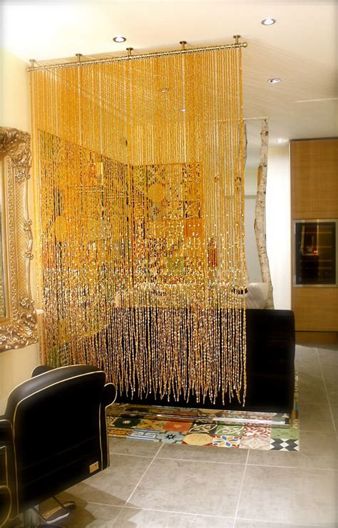 plastic room divider curtain chagne gold luxurious acrylic crystal bead curtain