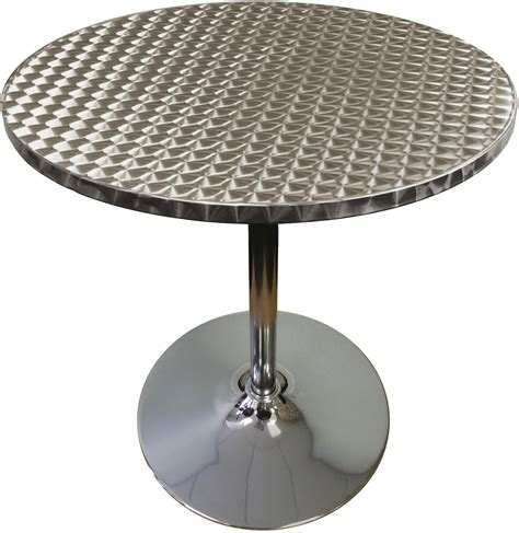 stainless and chrome modern knockdown highboy table