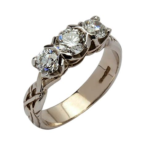 wedding rings history of three engagement rings 2