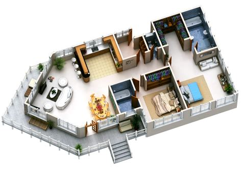 Single Story Open Concept Floor Plans by Two Bedroom Apartment House Plans Amazing Architecture
