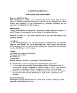 School Team Meeting Agenda Template by Sle Staff Meeting Agenda 6 Documents In Pdf