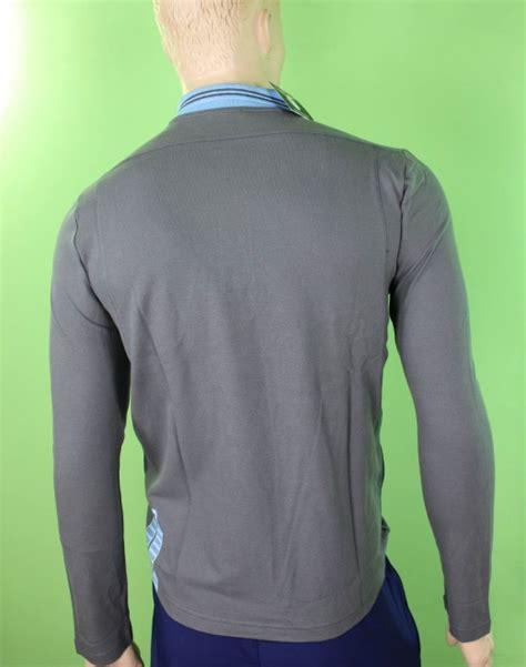 Ss Lazio Grey Logo ss lazio macron polo maglia maniche lunghe uomo grigio