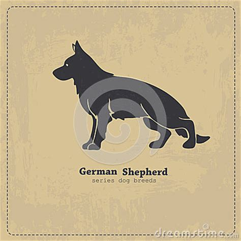 free business cards templates german shepherd silhouette german shepherd silhouette stock vector image 53916042